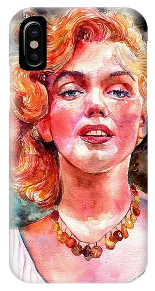 Fauvism iPhone Case - Marilyn Monroe Painting by Suzann Sines