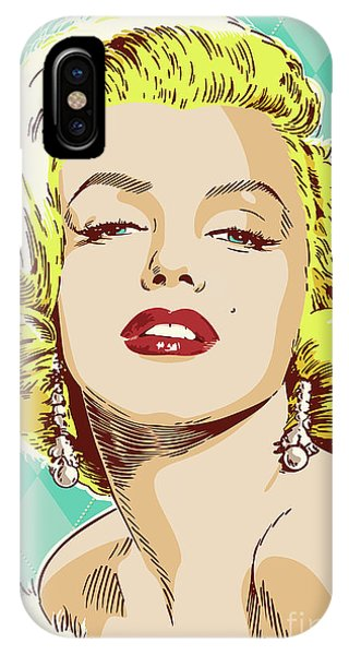Diamond iPhone Case - Marilyn Monroe Pop Art by Jim Zahniser