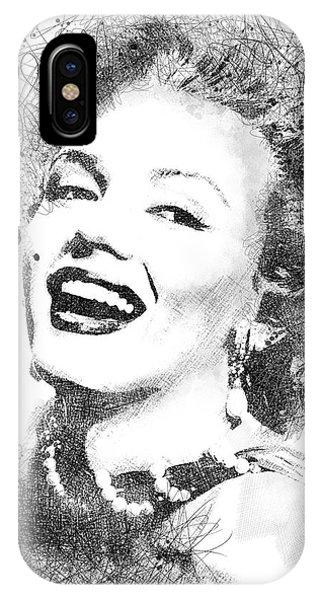 Marilyn Monroe Scribbles Portrait IPhone Case