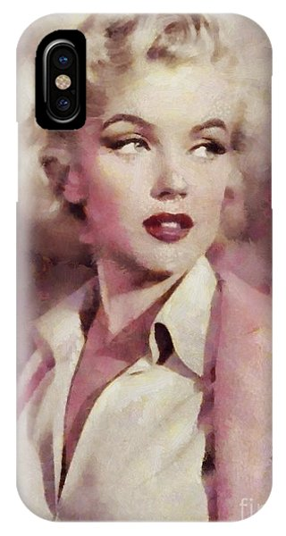 Marilyn Monroe, Vintage Hollywood Actress IPhone Case