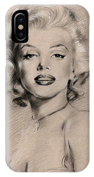 Marilyn Monroe iPhone Case - Marilyn Monroe by Ylli Haruni