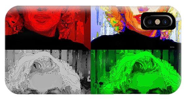 Marilyn Monroe - Quad. Pop Art IPhone Case