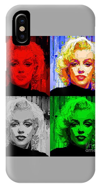 Marilyn Monroe - Quad. Pop Art IPhone Case