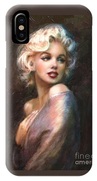 Portraits iPhone Case - Marilyn Romantic Ww 1 by Theo Danella