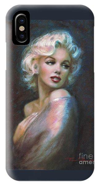 Marilyn Romantic Ww Dark Blue IPhone Case