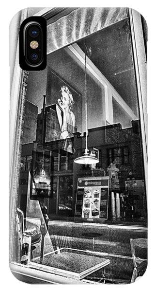 Menu iPhone Case - Marilyn Through The Window by Theresa Tahara