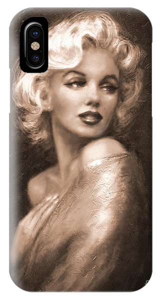 Marilyn Ww Sepia IPhone Case