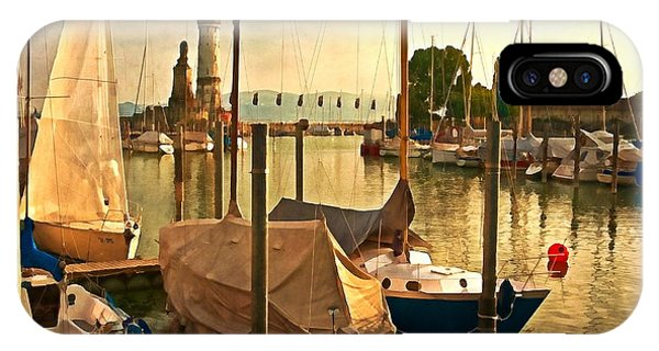 Marina At Golden Light - Digital Paint IPhone Case