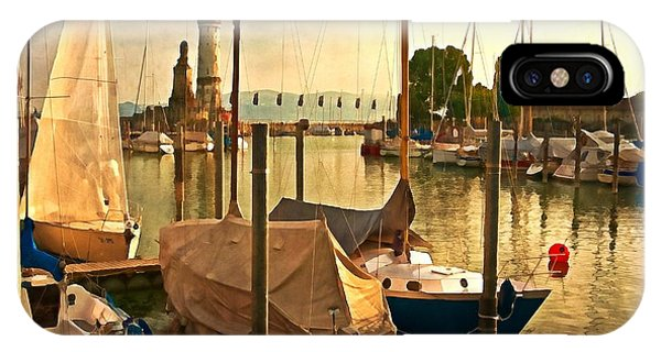Marina At Golden Light - Digital Paint IPhone Case