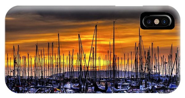 Marina At Sunset IPhone Case