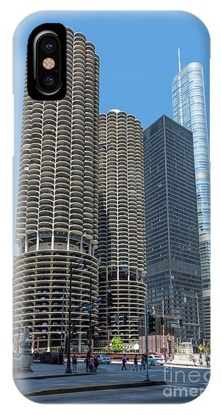Marina City, Ama Plaza, And Trump Tower IPhone Case