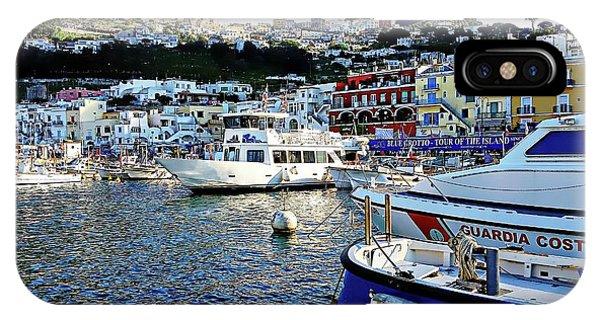 IPhone Case featuring the digital art Marina Grande - Isle Of Capri by Joseph Hendrix