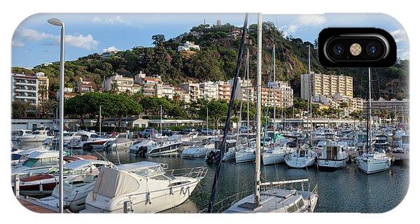 Powerboat iPhone Case - Marina In Blanes Town In Spain by Artur Bogacki
