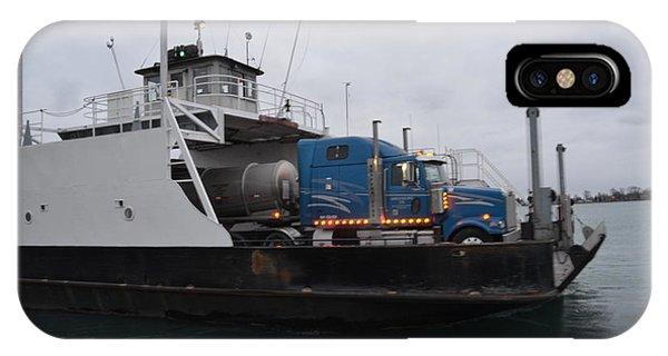 Marine City Mich Car Truck Ferry IPhone Case