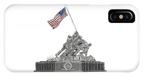 Marine Corps War Memorial - Iwo Jima IPhone Case