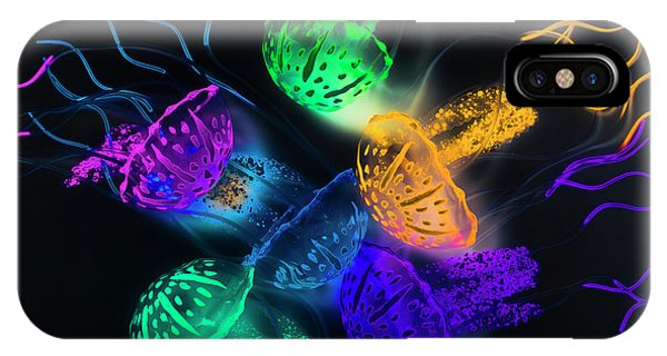 Neon iPhone Case - Marine Glow by Jorgo Photography - Wall Art Gallery