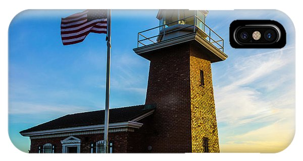 Santa Cruz Surfing iPhone Case - Mark Abbott Memorial Lighthouse by Garry Gay