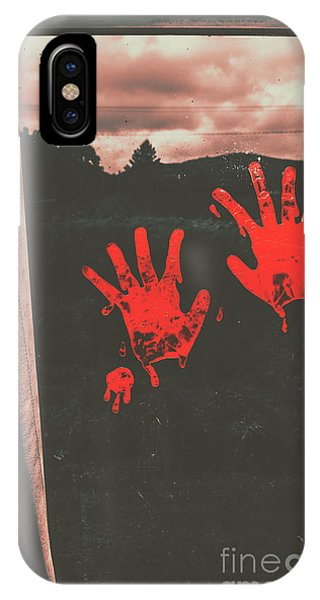 Sinister iPhone Case - Mark Of Murder by Jorgo Photography - Wall Art Gallery