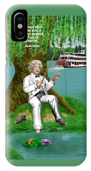 Mark Twain On The Mississippi IPhone Case