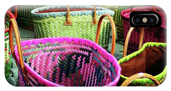 IPhone Case featuring the photograph Market Baskets - Libourne by Rick Locke
