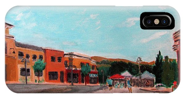IPhone Case featuring the painting Market Day by Linda Feinberg