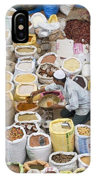 Indian Village iPhone Case - Market Day by Tim Gainey