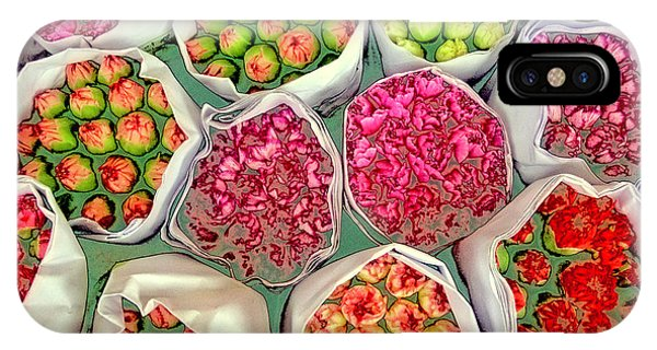 Market Flowers - Hong Kong IPhone Case