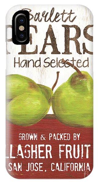 Pear iPhone Case - Market Fruit 1 by Debbie DeWitt