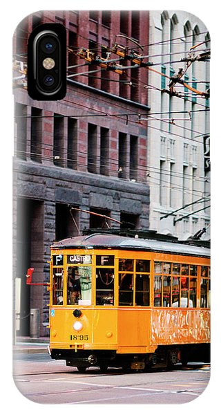 IPhone Case featuring the photograph Market Streetcar - San Francisco by Melanie Alexandra Price