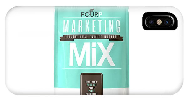 Ingredient iPhone Case - Marketing Mix 4 P's by Allan Swart