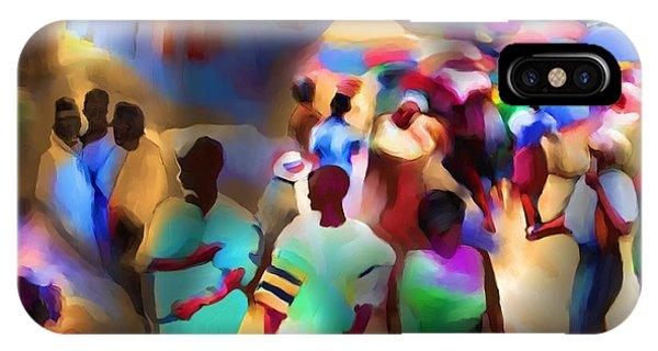 Marketplace At Night Cap Haitien IPhone Case