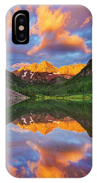Maroon Bells IPhone Case