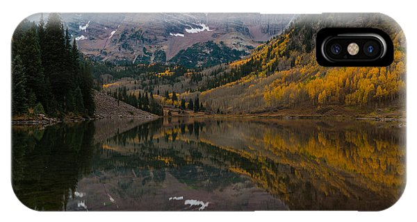 IPhone Case featuring the photograph Maroon Bells by Gary Lengyel