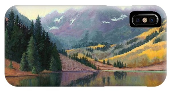 Maroon Bells In October IPhone Case