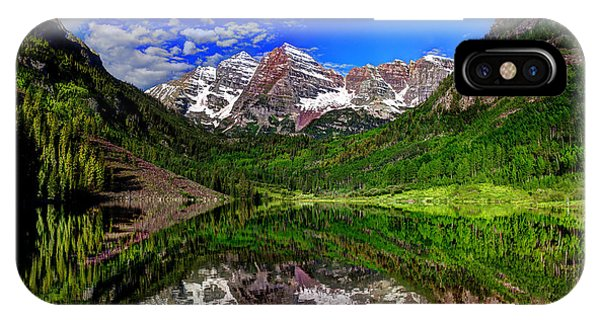 Maroon Bells Reflections IPhone Case
