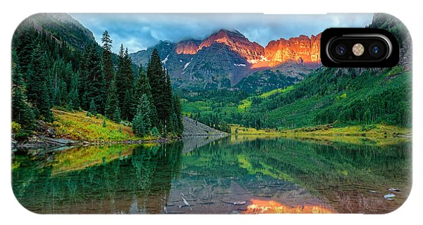 Maroon Bells Sunrise IPhone Case