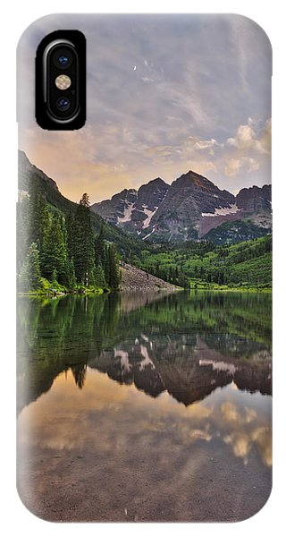 Maroon Bells Sunset - Aspen - Colorado IPhone Case