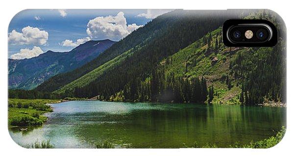 Maroon Lake Panorama IPhone Case