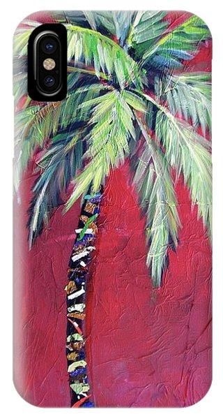 Maroon Palm Tree IPhone Case