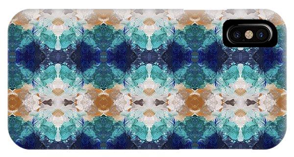 Tribal iPhone Case - Marrakesh Blues- Art By Linda Woods by Linda Woods