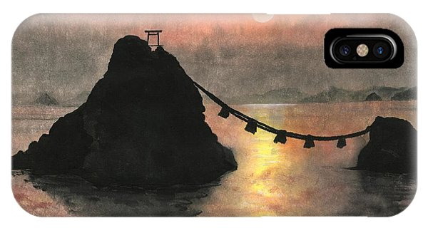 Married Couple Rocks At Sunset IPhone Case