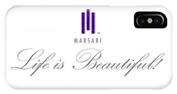 Marsari Life Is Beautiful IPhone Case