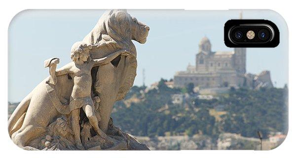 Marseille-saint-charles Statue, France IPhone Case