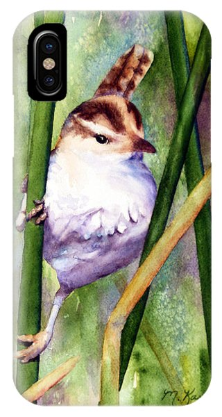Silver Creek Marsh Wren IPhone Case
