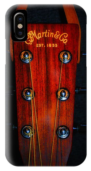 Martin iPhone Case - Martin And Co. Headstock by Bill Cannon