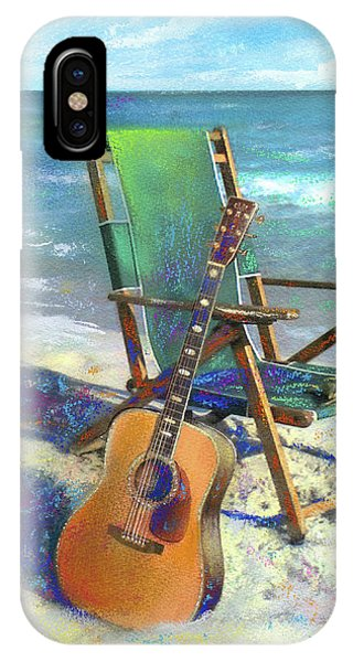 Guitar iPhone Case - Martin Goes To The Beach by Andrew King