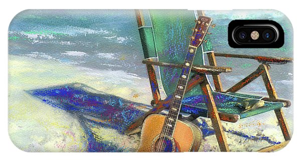 Musical iPhone Case - Martin Goes To The Beach by Andrew King