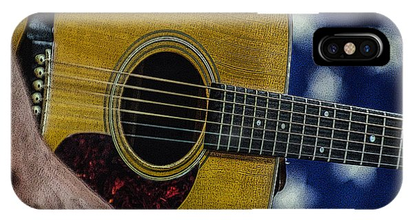 IPhone Case featuring the photograph Martin Guitar 1 by Jim Mathis