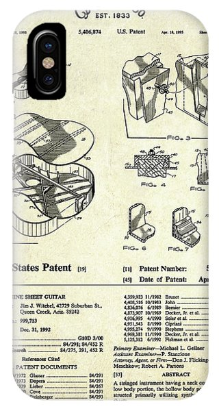 Martin Guitar Patent Art IPhone Case
