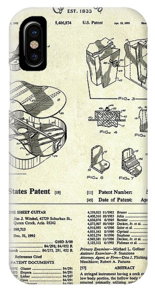 Patent iPhone Case - Martin Guitar Patent Art by Gary Bodnar